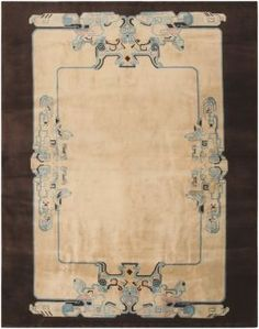 View this item and discover similar for sale at - This stately vintage Chinese art deco carpet displays a stunning combination of traditional ornaments paired with novel art deco influences. Carpet Sale, Rugs On Carpet, Bauhaus, Vintage Rugs, Vintage World Maps, Art Nouveau, January Art, Asian Rugs, Art Deco Rugs