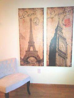 paris, london, decor