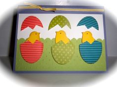 Stampin Up Handmade Card Easter Chicks | eBay