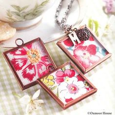 DIY Memory Frame Necklace jewelry craft | See all 5 snow day crafts from Gooseberry Patch!