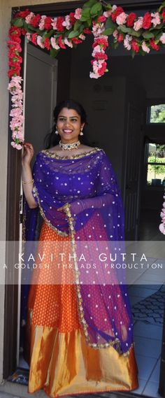 Eid Mubarak   folks!    After an amazing visit to the US and meeting all the lovely golden clients   KavithaGutta is available at our jubliee hills store from tomorrow .   Contact: +91-9052225447 for an appointment  with the designer.  indian  weddings  brides  goldenthreadsproduction   Contemporary  Kanchipuram lehengas now available at our store.  goldenthreads  kavithagutta  goldenthreadsproduction 06 July 2016