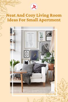 Applying the neutral color scheme will make the small apartment living room cozier. You can apply a white color scheme. Add some decorative items such as wall decoration and indoor plants. For the storage idea, the coffee table that has storage underneath can be your choice. #apartmentdecor #smallapartment #livingroomapartmentdecor #livingroomdecor