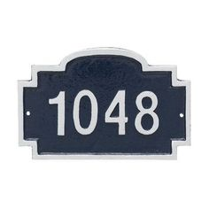 Montague Metal Products Chesterfield Petite Address Sign Plaque Finish: Sea Blue/Gold