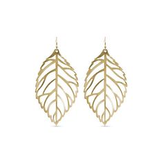 Towne  Reese Gold Mclain Gold-Tone Earrings ($14) ❤ liked on Polyvore featuring jewelry, earrings, gold, gold leaves earrings, gold tone earrings, yellow gold jewelry, goldtone jewelry and gold tone jewelry