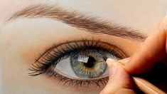 Tutorial, How to draw color a realistic eye and eyebrow with colored pencils, Emmy Kalia Colored Pencil Tutorial, Colored Pencil Techniques, Pencil Drawing Tutorials, Pencil Drawings, Eye Drawings, Pencil Sketching, Drawing Lessons, Drawing Techniques, Farbstift Tutorial