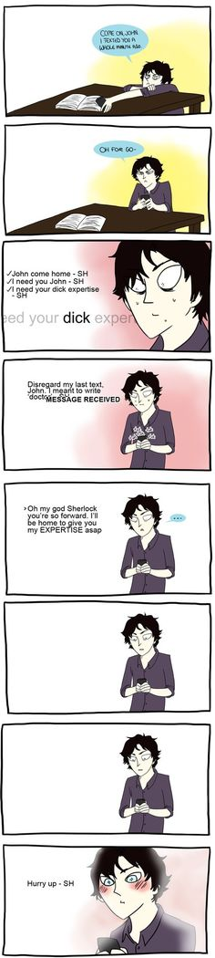 Sherlock should be a fucking pro at texting jeez by brewhay on deviantART