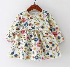 Garden White Shift Dress | Laleepop Kids Clothing