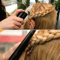 "The ""liquid bobby pin"" DIY trick for #braids!"