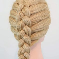 Easy Hairstyles For Long Hair, Braids For Long Hair, Cute Hairstyles, Wedding Hairstyles, Braided Hairstyles Tutorials, Style Hairstyle, Hairstyles 2018, Hair Tutorials, Hair Up Styles