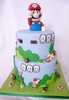 nintendo mario | fondant cover cakes with gumpaste mario and… | Flickr