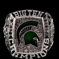Michigan State Baseball Big Ten Championship Ring Michigan State Baseball, Michigan State University, Michigan State Spartans, Ohio State Pictures, Spartan Sports, College Rings, Msu Spartans, Sports Today, Championship Rings