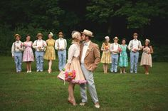 Vintage wedding! So Cute!!!! Should've done this!!!! When we renew vows ;)