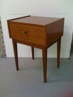 Bedside Cabinet Table Vintage Retro Style Chic