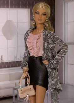 Photo by tessdesigner Barbie Model, Barbie Style, Barbie And Ken, Barbie Dress, Barbie Clothes, Fashion Royalty Dolls, Fashion Dolls, Cute Dolls, Dolls Dolls
