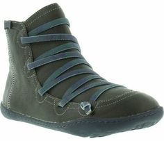 Camper Peu Cami 46104 Womens Grey Blue Leather Hi Top Trainers Shoes