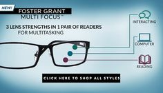 As one of the first sunglass brands and now a fashion trendsetter in stylish readers, Foster Grant® is widely celebrated for offering great value on a wide selection of eyewear. With Brooke Shields as the face of Foster Grant® and a loyal celebrity following, these iconic readers deliver stylish solutions that are elegantly smart and always a step ahead.