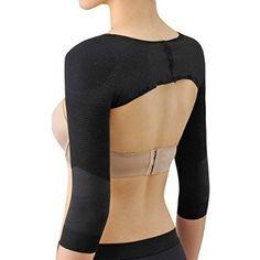 Ausom Womens Long Sleeve Shaper Slimmer Arm Shapers Back Shoulder Support Wrap Correct Posture Corrector Humpback Prevent Shaperwear