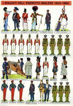 1969 - 34 - Battaglia - I soldati dell'esercito inglese 1829-1860