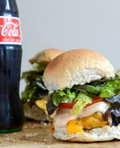 Make this Roasted Jalapeño Cheddar Turkey Burger with BBQ Aioli, crack open a cold bottle of Coca Cola & enjoy!