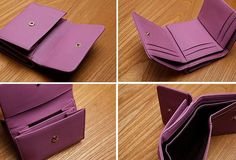 Genuine Leather Cute Slim Short Trifold Wallet Card Holder Wallet Purse For Women Girl Card Wallet, Purse Wallet, At Least, Card Holder, Slim, Purses, Mini, Cute, Leather
