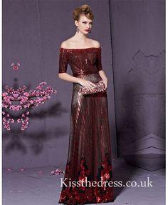 prom dress, wine red