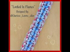 """Locked in Flames"" Rainbow loom Bracelet/ How To Tutorial - YouTube"