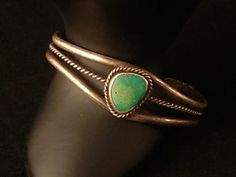 Southwestern Sterling Silver Green Turquoise Cuff Bracelet #vintage #Vintagejewelry #antique #antiquities #diy #doityourself #jewelry #jewels #gems #forgottentreasurez #forgottentreasures #thrifty #thrifting #thriftshop #thriftstore #ebay #etsy #forsale #gems #rhinestones #collectible #collectable #memorabilia #crafts #artsandcrafts #jewelrymaking #repurpose #repurposed #rhinestone #sterling #sterlingsilver #southwest #southwestern #native #turquoise