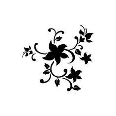 Free Printable Wall Stencils zebra | Wall Stencil - Flora 184 - STENCILS DESIGN -Wall Stencils and Wall ...