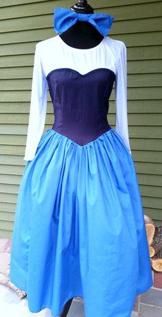 Disney Inspired Ariel Kiss The Girl Dress Women by TulleandTaffeta