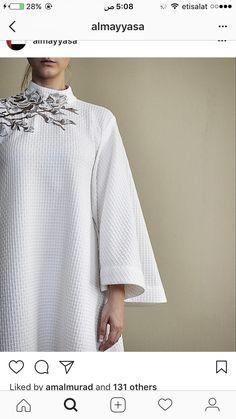 White Linen Dresses, Eid Dresses, Abaya Designs, Luxury Dress, Abaya Fashion, Fashion Dresses, Embroidery Dress, Kaftans, Coat Dress