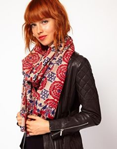 Enlarge Yarnz Tapestry Cashmere Scarf