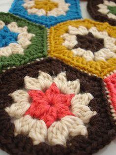 Super simple crochet hexagons