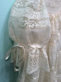 Beautiful heirloom lace dress by Mela Wilson to view more visit my Facebook  Mela Wilson Heirloom Children's Clothing