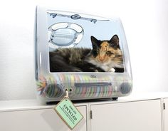 Upcycled Apple Computer Pet Bed  iMac  Think por AtomicAttic, $129.00