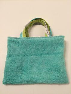 Aqua Lime Brown - Toddler Tote, $15.00