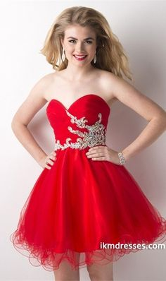 015 Prom Dress Sweetheart A Line Ruffled Bodice With Short/Mini Tulle Skirt http://www.ikmdresses.com/2014-Prom-Dress-Sweetheart-A-Line-Ruffled-Bodice-With-Short-Mini-Tulle-Skirt-p83510