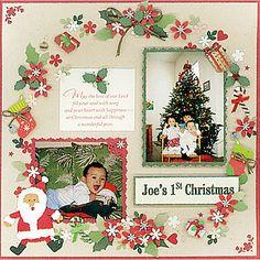 スクラップブッキングコンテスト大賞作品「Joe's 1st Christmas」