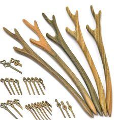 1 Pc Handmade Wooden Hair Pin Stick Chopstick Wood Carved Hair Jewelry Random