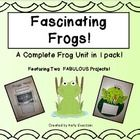 """If you're looking to have your students """"hop in"""" to the fascinating world of frogs, this is your # 1 resource! This is a complete unit on frogs in ..."""