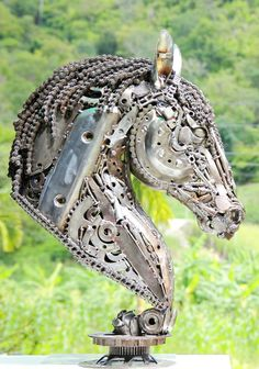 Trash Art Wonderful Artist HORSE Pinterest Trash Art - Salvaged scrap metal transformed to create graceful kinetic steampunk sculptures