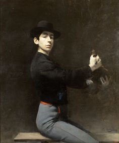 Self Portrait by Ramon Casas (1866-1932). This has such  an elegant hauteur about it. Spanish men have always had great style.