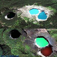 Tiwu Ata Mbupu, Tiwu Nuwa Muri Koo Fao and Tiwu Ata Polo (Lake Kelimutu, The Three Colored Lake) - Flores Island, Indonesia