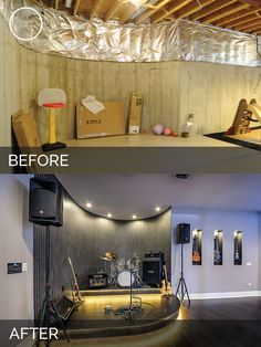 Mark Kims Basement Before After Pictures Basements