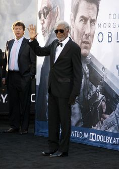 Morgan Freeman at the Oblivion Los Angeles Premiere