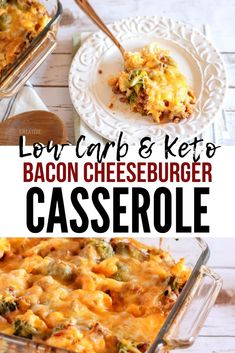 My husband LOVES this cheeseburger casserole and I love that it's such an easy to make low carb casserole. Casserole Recipes, Crockpot Recipes, Cooking Recipes, Keto Recipes, Lasagna Recipes, Icing Recipes, Ramen Recipes, Carrot Recipes, Lentil Recipes