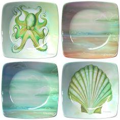 Coastal Appetizer Plates