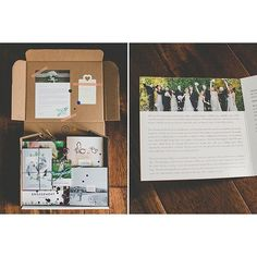 """We are loving this customized Wedding Welcome Packet from Jessica of 283 Photography. She shares, """"I used the Wedding Welcome Packet: Floral Edition to provide my couples the confidence and trust."""""""