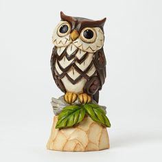 Jim Shores enchanting Garden Gnome collection is a fanciful cast of characters sure to delight. Handcrafted in intricate detail; this cheerful owl is an enchanting tribute to the wisdom found in natur