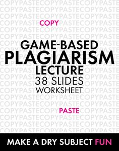 Your plagiarism lesson will stick better when you present it as a game. Check out this ready-to-play option for grades 8-12. #plagiarismlesson #highschoolEnglish #middleschoolEnglish #ELA