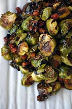 Roasted Brussels Sprouts with Pancetta and Balsamic Syrup